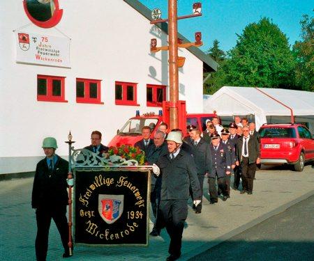 Gebührend wurde das Jubiläum von den stolzen Feuerwehrmännern gefeiert. Foto: Privat